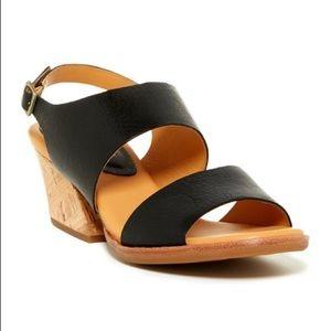 Kork-Ease Patterson Black Strap Sandals